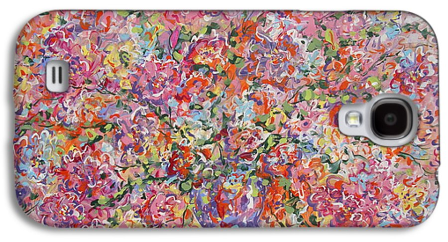 Painting Galaxy S4 Case featuring the painting Summer Flowers by Leonard Holland