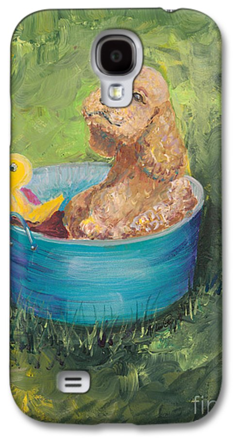 Dog Galaxy S4 Case featuring the painting Summer Fun by Nadine Rippelmeyer