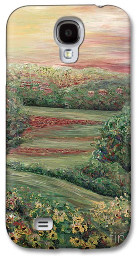 Landscape Galaxy S4 Case featuring the painting Summer In Tuscany by Nadine Rippelmeyer