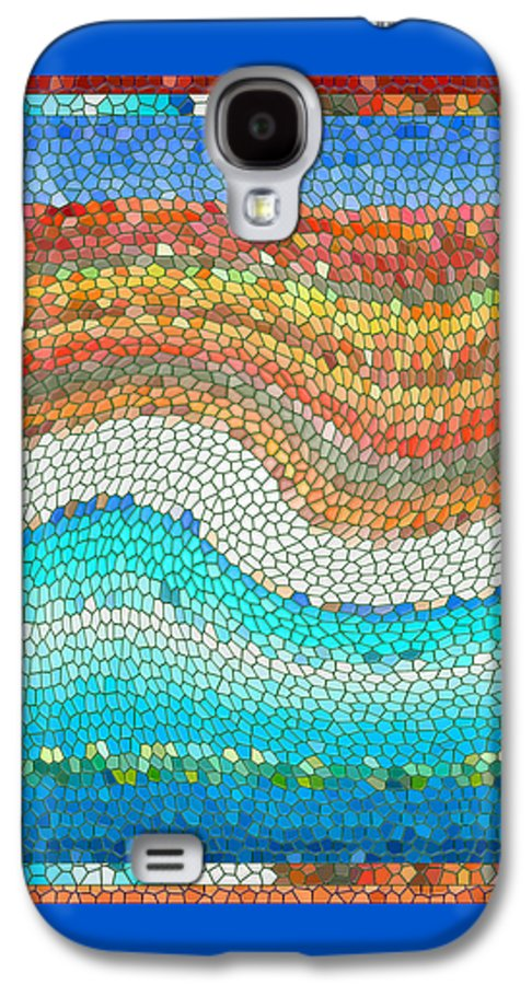 Colorful Galaxy S4 Case featuring the digital art Summer Mosaic by Melissa A Benson
