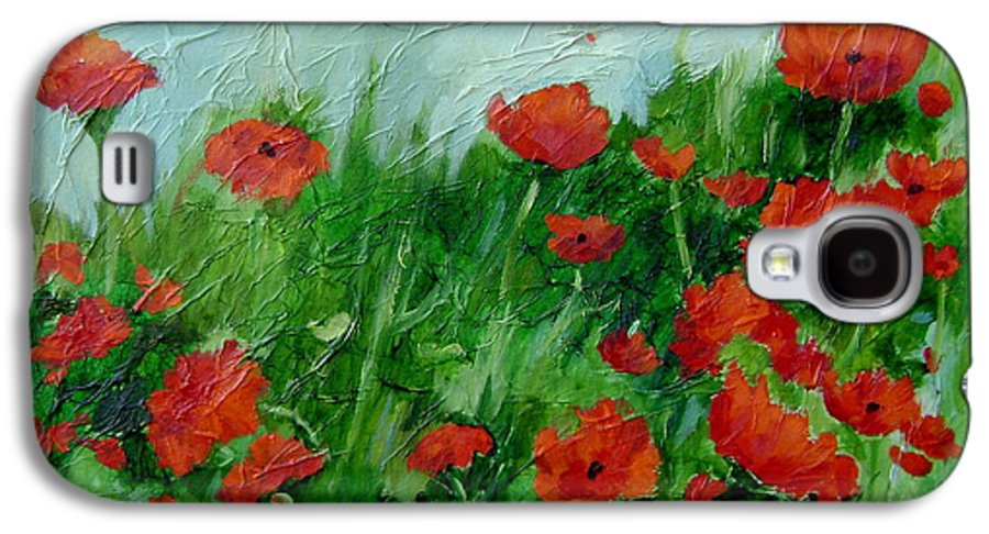 Red Poppies Galaxy S4 Case featuring the painting Summer Poppies by Ginger Concepcion