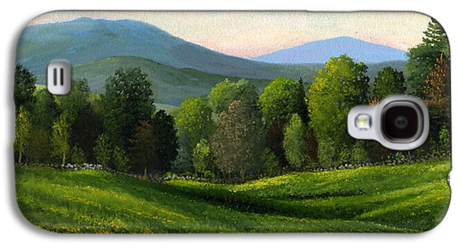Landscape Galaxy S4 Case featuring the painting Summers Ending by Frank Wilson