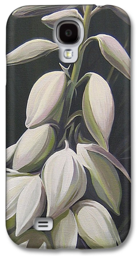 Yucca Plant Galaxy S4 Case featuring the painting Summersilver by Hunter Jay
