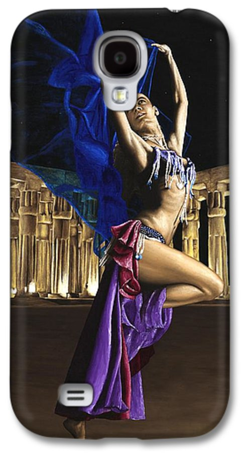 Belly Galaxy S4 Case featuring the painting Sun Court Dancer by Richard Young