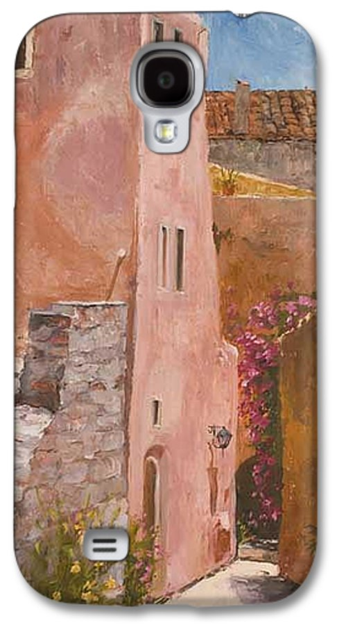 Urban Galaxy S4 Case featuring the painting Sun Drenched by Kit Hevron Mahoney