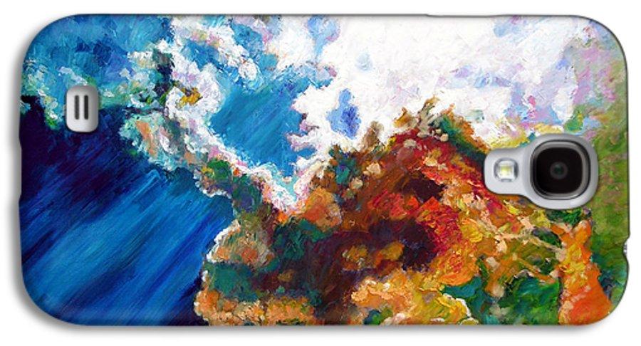 Sunburst Galaxy S4 Case featuring the painting Sunburst by John Lautermilch