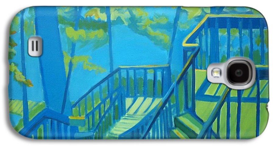 New Hampshire Galaxy S4 Case featuring the painting Suncook Stairwell by Debra Bretton Robinson