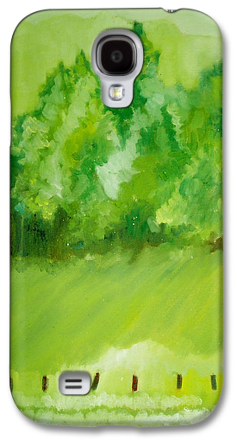 Spring Galaxy S4 Case featuring the painting Sunday At Two Thirty by Seth Weaver