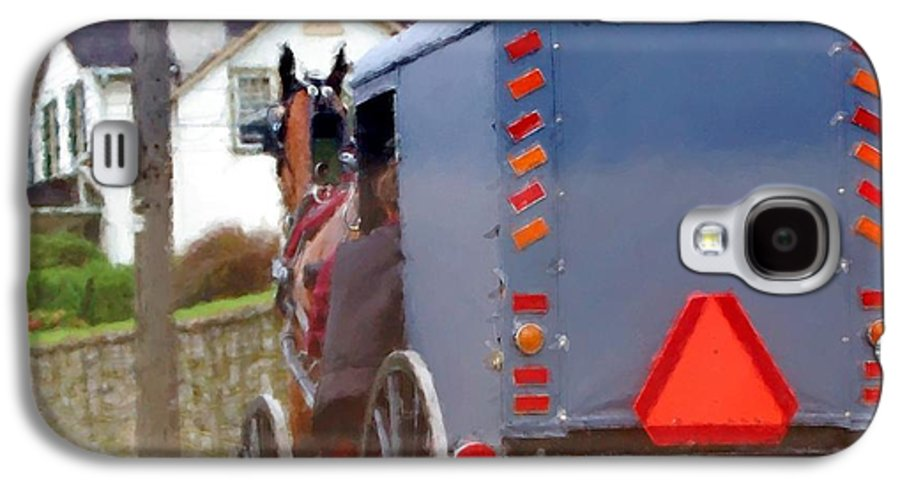 Amish Galaxy S4 Case featuring the photograph Sunday Courting by Debbi Granruth