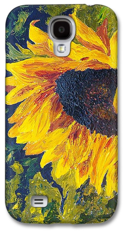 Galaxy S4 Case featuring the painting Sunflower by Tami Booher