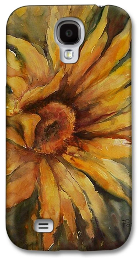 Sunflower Galaxy S4 Case featuring the painting Sunflower by Virginia Potter