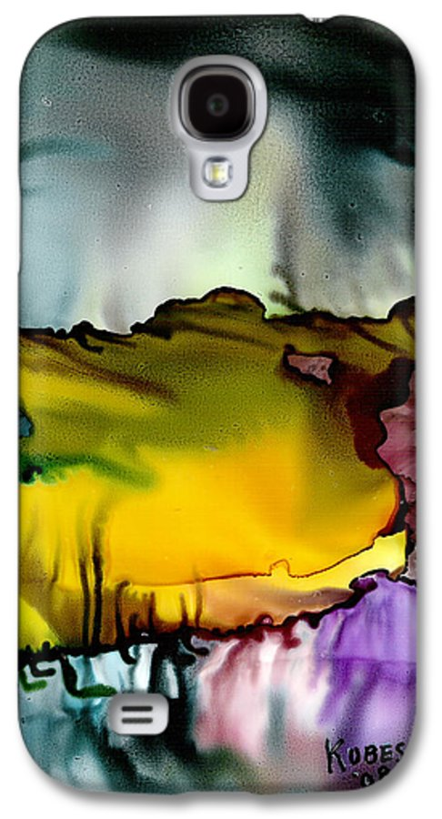 Abstract Galaxy S4 Case featuring the mixed media Sunless Sea by Susan Kubes