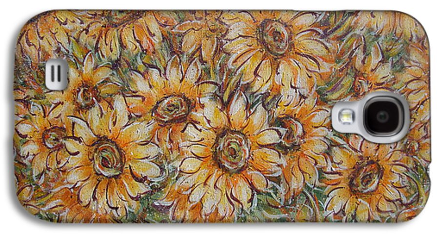 Flowers Galaxy S4 Case featuring the painting Sunlight Bouquet. by Natalie Holland
