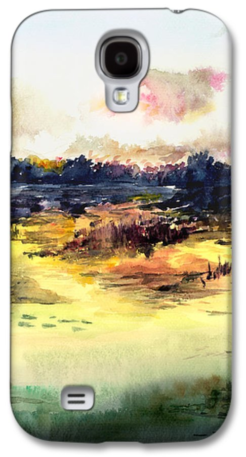 Landscape Water Color Sky Sunrise Water Watercolor Digital Mixed Media Galaxy S4 Case featuring the painting Sunrise by Anil Nene