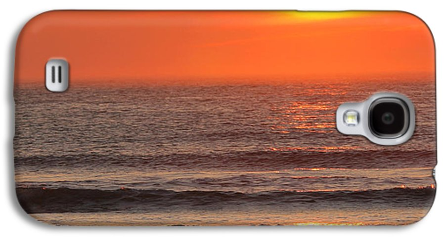 Ocean Galaxy S4 Case featuring the photograph Sunrise On The Oceanside by Max Allen