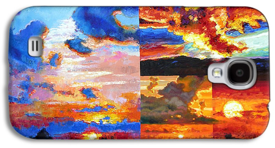Sunrise Galaxy S4 Case featuring the painting Sunrise Sunset Sunrise by John Lautermilch