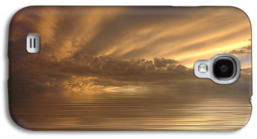 Sunset Galaxy S4 Case featuring the photograph Sunset At Sea by Jerry McElroy