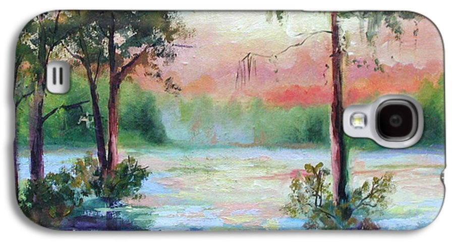 Sunset Galaxy S4 Case featuring the painting Sunset Bayou by Ginger Concepcion