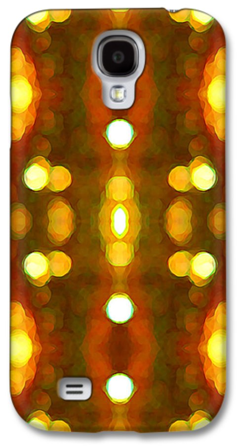 Abstract Galaxy S4 Case featuring the painting Sunset Glow 2 by Amy Vangsgard