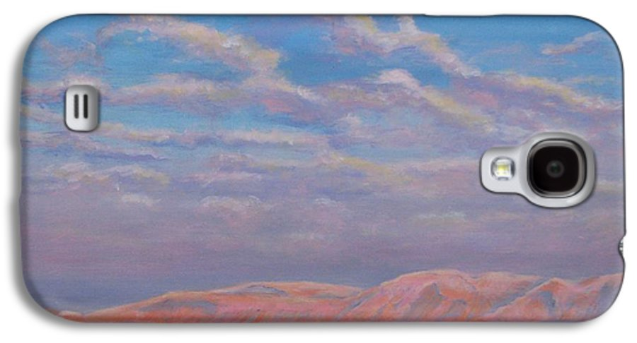 Sunset Galaxy S4 Case featuring the painting Sunset On The Dead Sea In Israel by Art Nomad Sandra Hansen