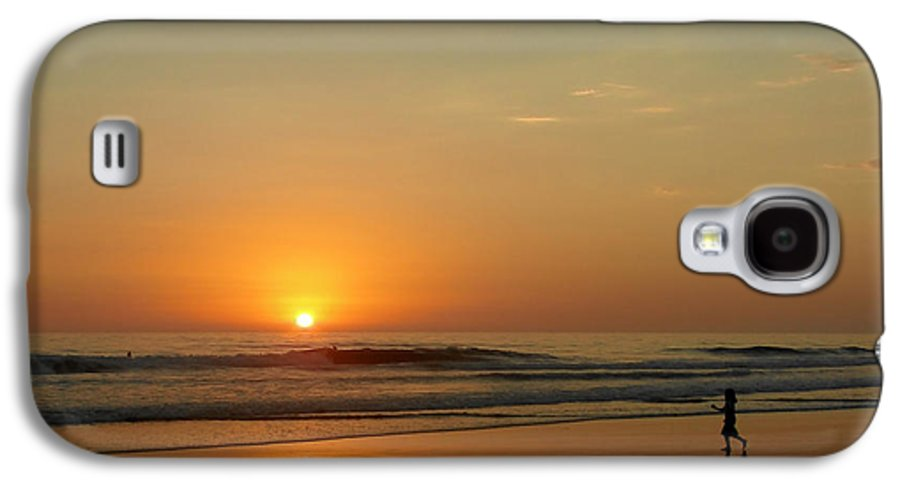 Pacific Galaxy S4 Case featuring the photograph Sunset Over La Jolla Shores by Christine Till