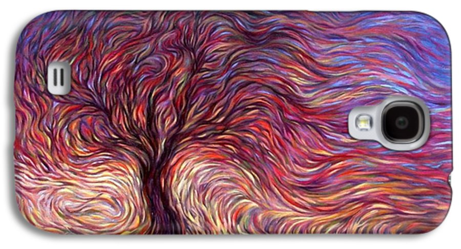 Tree Galaxy S4 Case featuring the painting Sunset Tree by Hans Droog