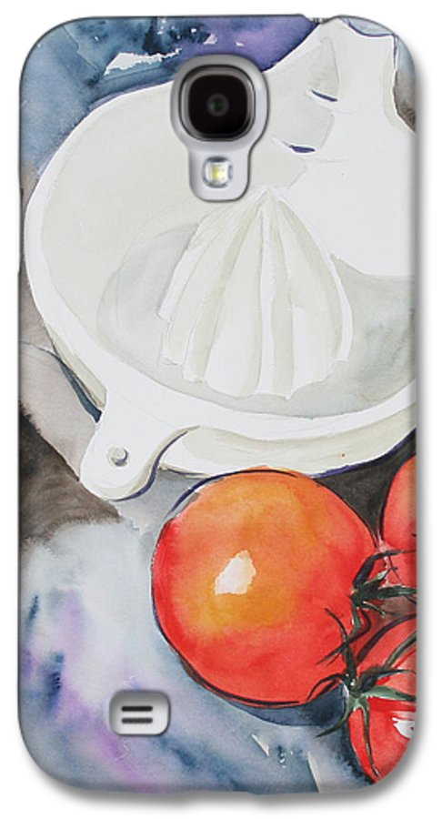 Tomatoes Galaxy S4 Case featuring the painting Sunshine On The Vine by Jean Blackmer