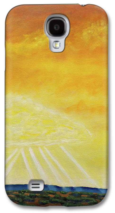 Landscape Galaxy S4 Case featuring the painting Super Seven by Brian Commerford