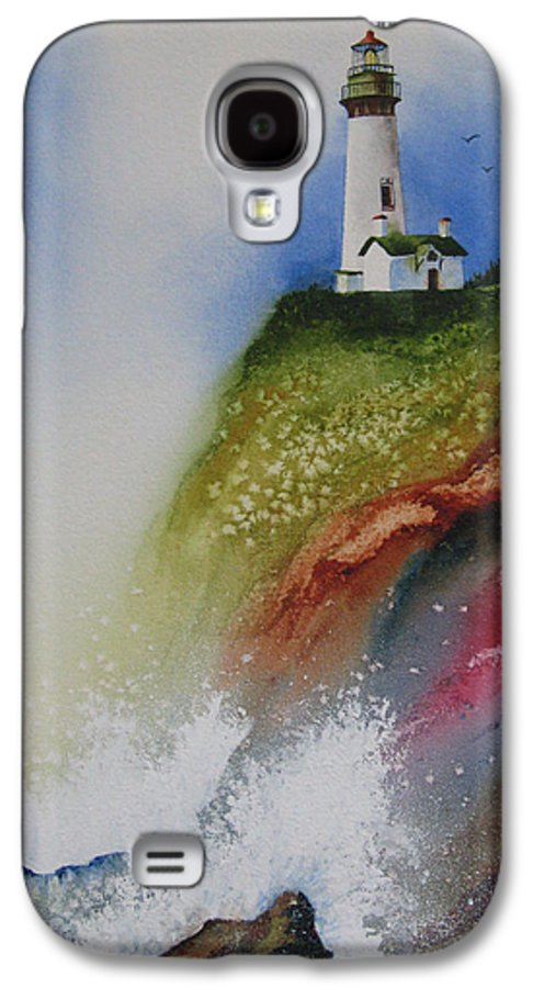 Lighthouse Galaxy S4 Case featuring the painting Surfside by Karen Stark