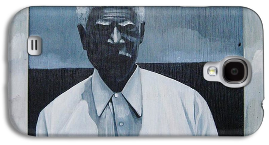 Man Galaxy S4 Case featuring the painting Survivor James by Joyce Owens