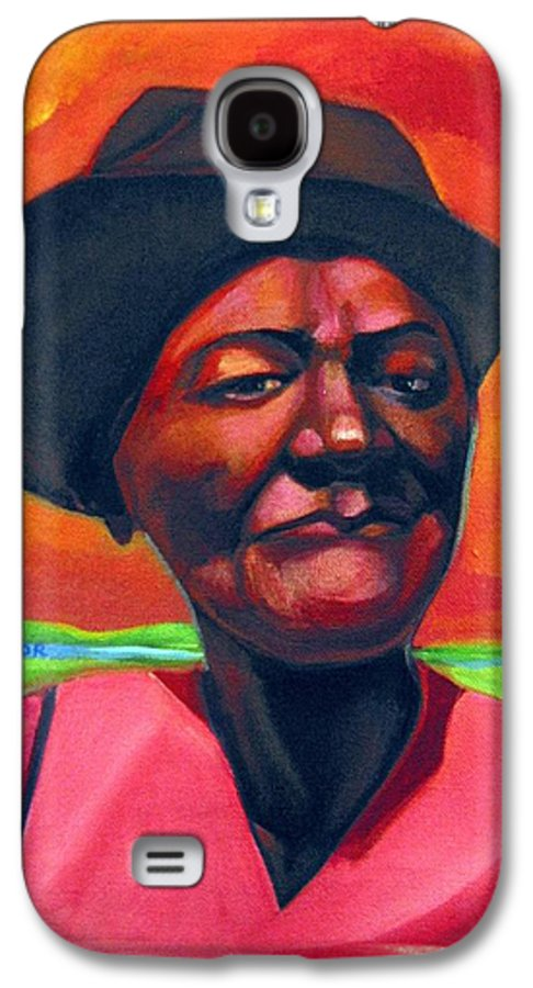 African Galaxy S4 Case featuring the painting Survivor Spirit Mollie by Joyce Owens