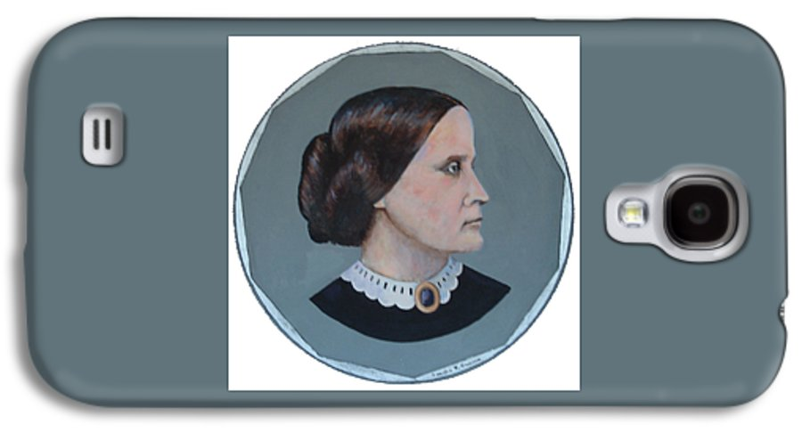 Susan B. Anthony Galaxy S4 Case featuring the painting Susan B Anthony Coin by Art Nomad Sandra Hansen