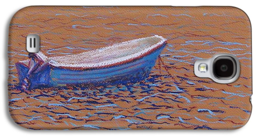 Boat Galaxy S4 Case featuring the pastel Swedish Boat by Art Nomad Sandra Hansen