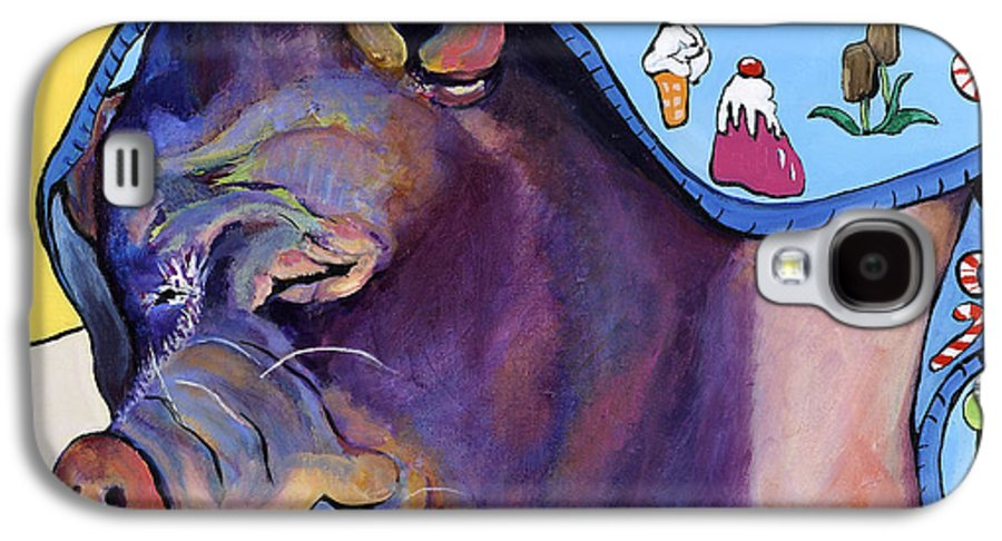 Farm Animal Galaxy S4 Case featuring the painting Sweet Dreams by Pat Saunders-White