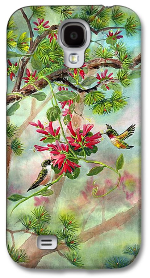 Hummingbirds Galaxy S4 Case featuring the painting Sweet Journey by Eileen Fong