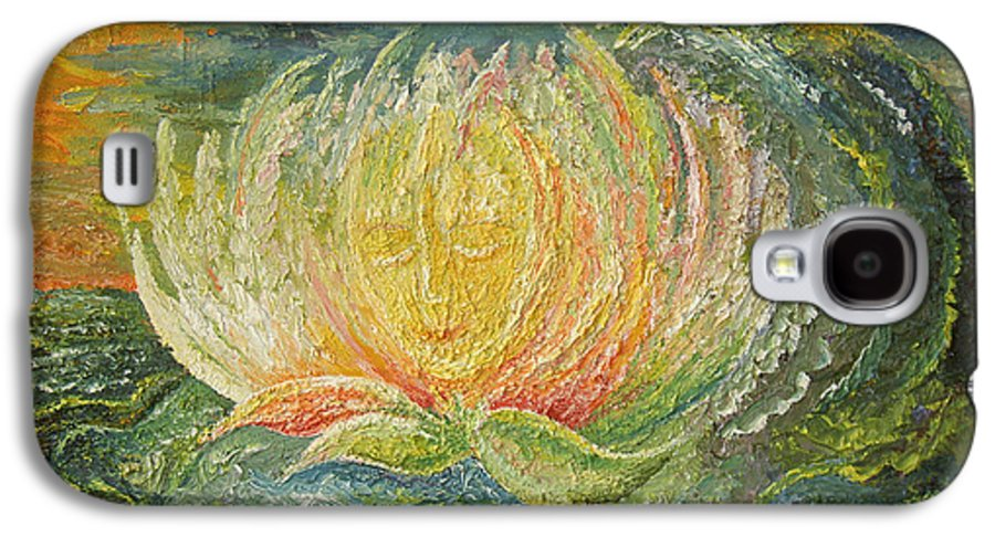Flower Galaxy S4 Case featuring the painting Sweet Morning Dream by Karina Ishkhanova