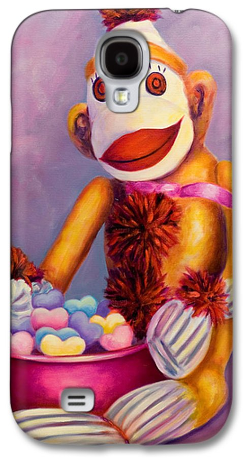 Heart Galaxy S4 Case featuring the painting Sweetheart Made Of Sockies by Shannon Grissom