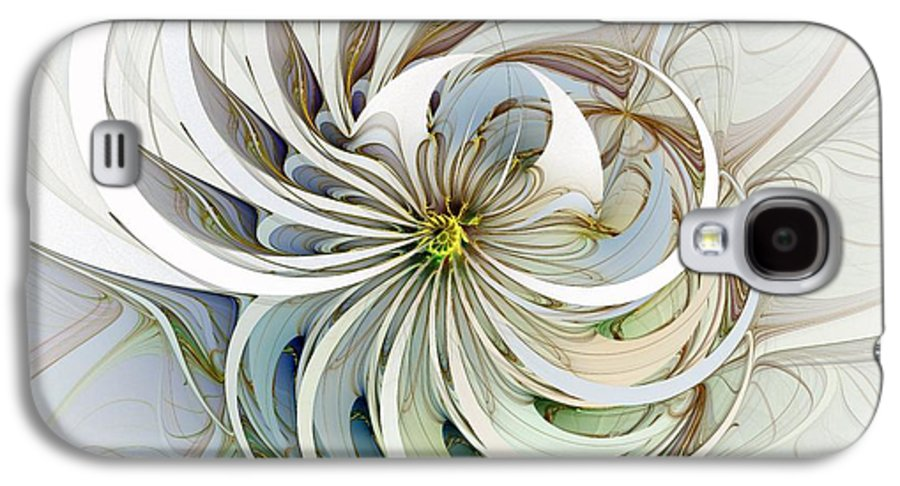 Digital Art Galaxy S4 Case featuring the digital art Swirling Petals by Amanda Moore