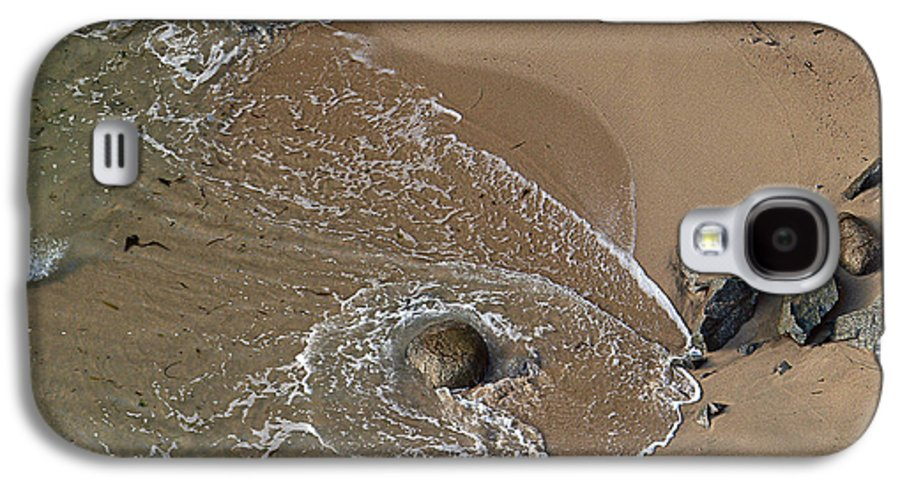 Big Sur Galaxy S4 Case featuring the photograph Swirling Surf And Rocks by Charlene Mitchell
