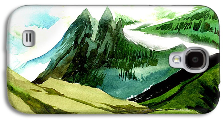 Landscape Galaxy S4 Case featuring the painting Switzerland by Anil Nene
