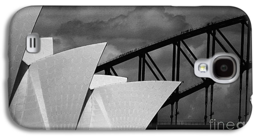 Sydney Opera House Galaxy S4 Case featuring the photograph Sydney Opera House With Harbour Bridge by Avalon Fine Art Photography