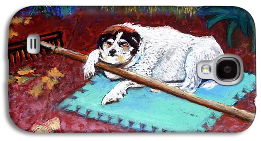 Dog Galaxy S4 Case featuring the painting Take A Break by Minaz Jantz