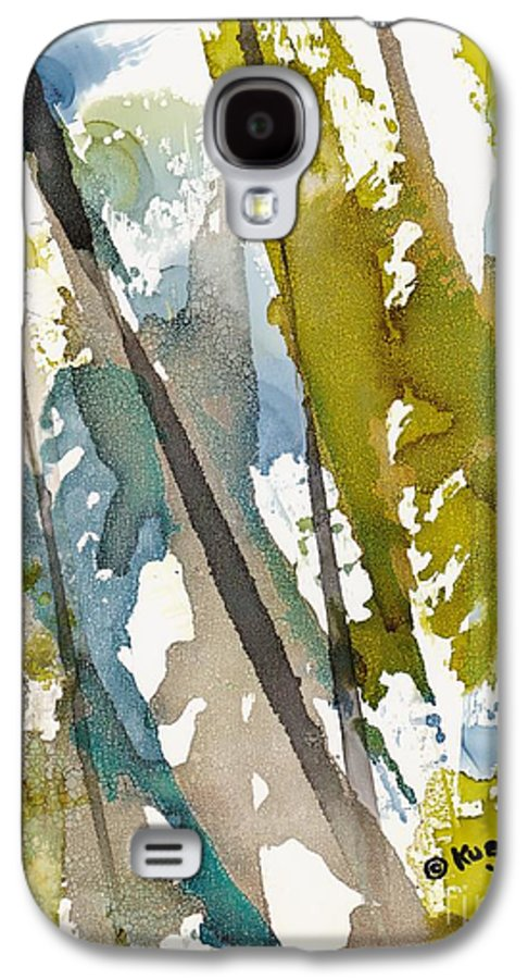 Forest Galaxy S4 Case featuring the painting Tall Timber by Susan Kubes