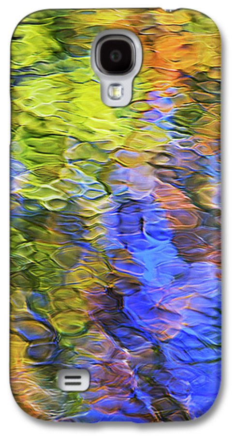 Abstract Galaxy S4 Case featuring the photograph Tangerine Twist Mosaic Abstract Art by Christina Rollo