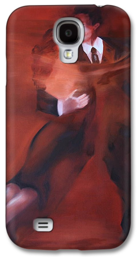 Tango Galaxy S4 Case featuring the painting Tango No.1 by Harri Spietz