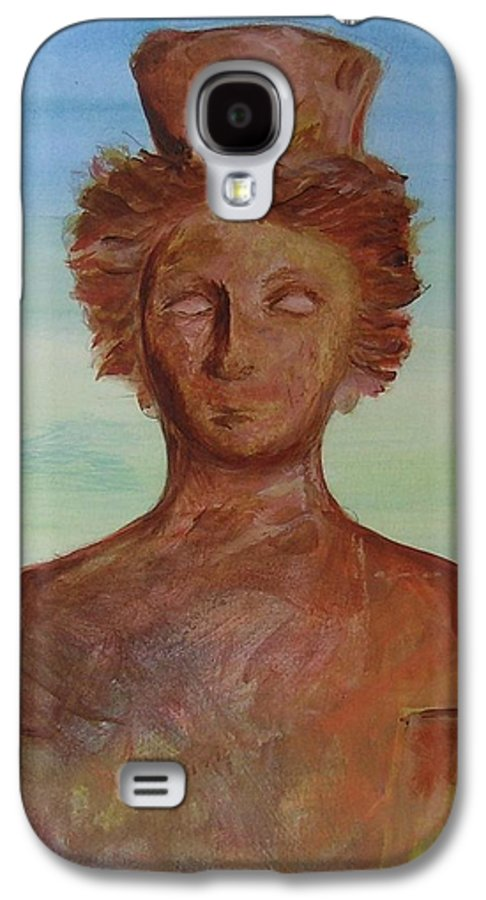 Icon Galaxy S4 Case featuring the painting Tanit Mythical Godess Of Ibiza by Lizzy Forrester