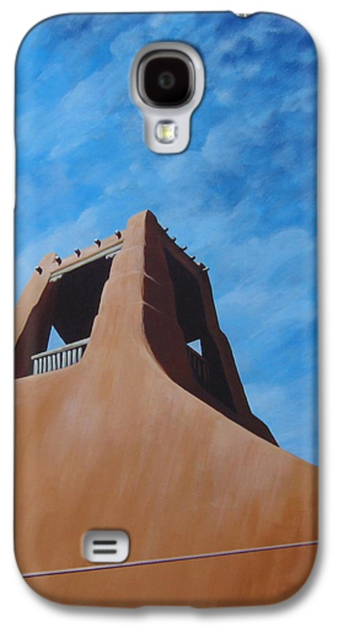 Taos Galaxy S4 Case featuring the painting Taos Memory by Hunter Jay