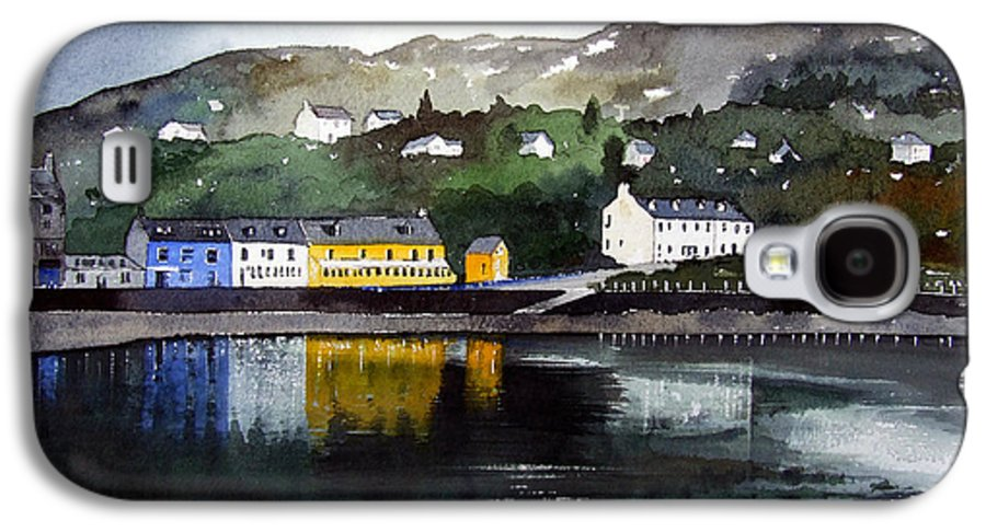 Scottish Fishing Harbour Galaxy S4 Case featuring the painting Tarbert Reflections by Paul Dene Marlor