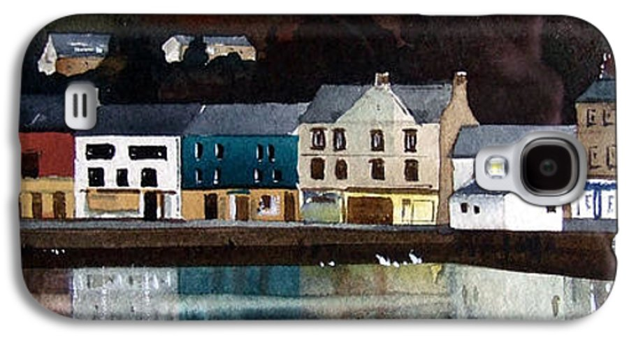Landscape Galaxy S4 Case featuring the painting Tarbert Reflections by Paul Dene Marlor