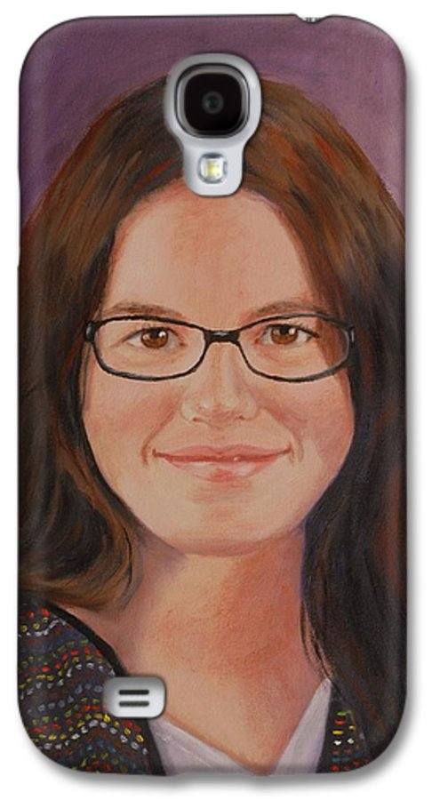 Portrait Galaxy S4 Case featuring the painting Taylor Snow by Quwatha Valentine